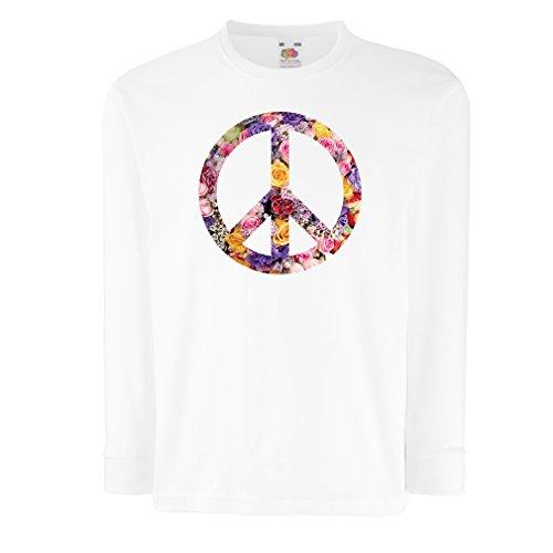5bad0f9b77e55 lepni.me Kids Boys/Girls T-Shirt Peace Symbol, 1960s 1970s Hippy Hippie  Festival, Peace Sign Flower Summer Hipster SWAG (7-8 Years White Multi  Color) - Buy ...