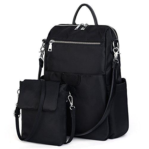 (UTO Damen Backpack Purse Oxford wasserdicht Cloth Nylon Frau Rucksack abnehmbar Crossbody Schultertasche)