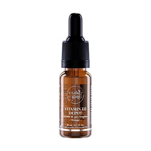 Vitamin D3 Liquid 10.000 IE Depot - vegane Tropfen - Nur eine Portion / 10 Tage (20 ml / 600 Tropfen)