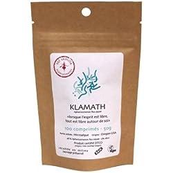 Alga Klamath - Klamath Crudo - Klamath Silvestre - Tableta de Puro Polvo de Klamath | 100 tabletas (comprimidos) de 500mg | Sol Semilla