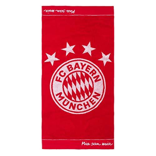 FC Bayern München Handtuch Emblem rot, 100x50cm