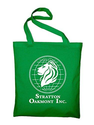 Stratton Oakmont Inc Börse Logo Jutebeutel Aufdruck Grün
