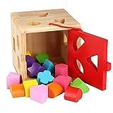 Homyl Geometrisches Steckspiel Steckwürfel Steckbox Ausbildung Spielzeug, aus Holz