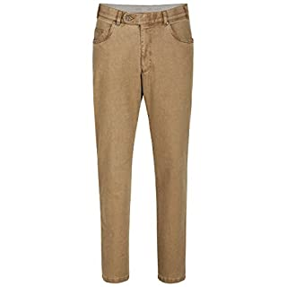 aubi: Perfect Fit Herren Winter Hose Baumwollhose Modell 577 Beige Größe 27