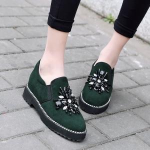 hexiajia - Scarpe Basse Stringate donna Green