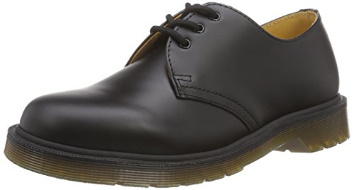 Dr. Martens 1461 Scarpe basse stringate, Unisex, Adulto, Nero (Black Smooth Pw), 43
