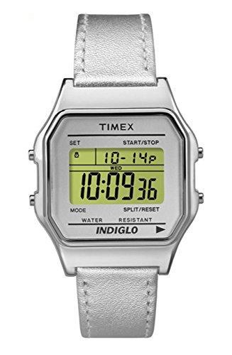 Timex Damen Digital Quarz Uhr mit Leder Armband TW2P76800
