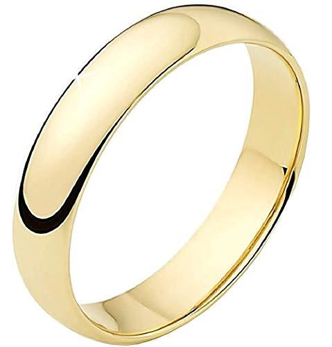Anello - fedina - colore oro - acciaio inossidabile - fede - fidanzati - fidanzamenti - fascia - idea regalo - uomo - donna - unisex - it 13 - bigiotteria - gioielli - moda - fashion - bijoux