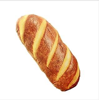20 cm Pas de z/éro Oreiller en peluche humoristique 3D doux Rouge coussin lombaire cadeau amusant en forme de pain