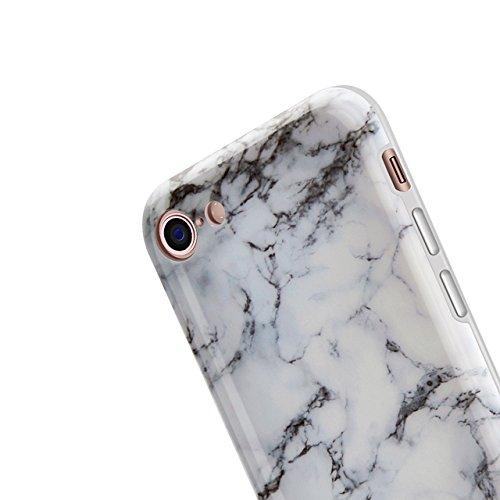 iPhone 6 Hülle, iPhone 6S Marmor Hülle, Vandot TPU Silikon Weich Marble Schutzhülle für iPhone 6 6S Protective Handy Case Cover[Non Slip, Ultra Thin Slim] Lila Glänzend Soft Handyhülle Schutz Handy Hü Muster 12