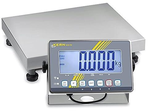 Balance plate-forme avec protection IP [Kern IXS 6K-3M] avec appareil d'analyse IP68 en acier inoxydable, écran XL et approbation d'homologation [M], Portée [Max]: 3 kg / 6 kg, Lecture [d]: 1 g / 2 g
