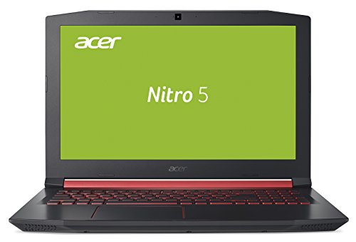 Acer Nitro 5 AN515-51-788E 39,6 cm (15,6 Zoll Full HD IPS matt) Gaming Notebook (Intel Core i7-7700HQ, 16GB RAM, 256GB SSD, 1TB HDD, GeForce GTX 1050Ti, Win 10) schwarz/rot