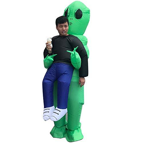 KOBWA Alien Pick Me Up Aufblasbares Aufblas-Kostüm, aufblasbares Kostüm, Cosplay, Party, Kostüm, grüne Geisterumarmungen, lustige Show-Requisiten, Luftaufblasbares Set 2