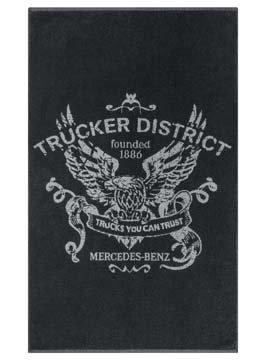mercedes-benz-trucker-cap-black-grey-bath-towel-100-cotton