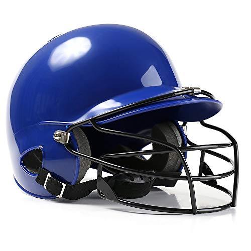 CX ECO American Football Helm Football Helm Baseball Batting Helm Atmungsaktive Stoßfestigkeit Protector Sport Kopfschutz Schutz,Blue (Helm Blue Football)