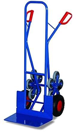 VARIOFIT Sackkarren Stahlrohrkarren, Gewicht: 28kg, H: 130cm, Schaufel (BxL): 48 x 30 cm