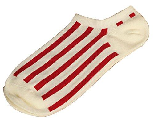 Lot de 2 Flag chaussettes en coton chaussettes pour hommes Blanc Rouge