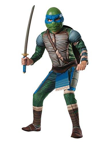 Kinder Teenage Mutant Ninja Turtles Leonardo Deluxe Film-Set, Medium, Alter 5-7 Jahre), Höhe 4'5.08 cm - 4'15.24 cm