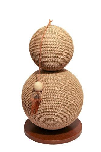 Rosewood 40141 Attraktives Kratzspielzeug aus natürlicher Jute, mit Feder, 60 x 30cm