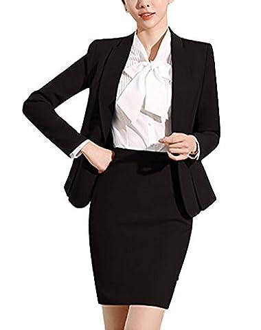 SK Studio Women's 3 Piece Business Skirt Jacket Dress Set