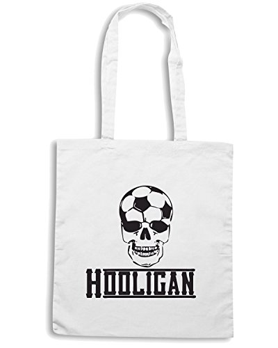 T-Shirtshock - Borsa Shopping WC0559 Soccer Hooligan Bianco