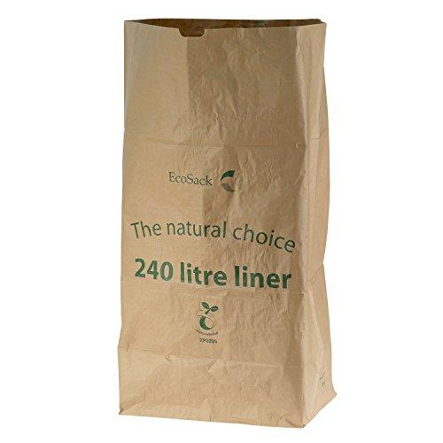 All-Green, 240 litri (240L) sacchi compostabili di carta per porta rifiuti carrellabili, 10 Sacchi