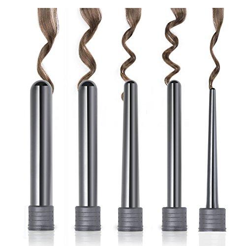 Golden Curl 5P Professionelles Luxuriöses 5 Teiliges Lockenstab System für jede Perfekt Natürlich ausschauende Locke – außergewöhnliche 5 Jahres Garantie - 6