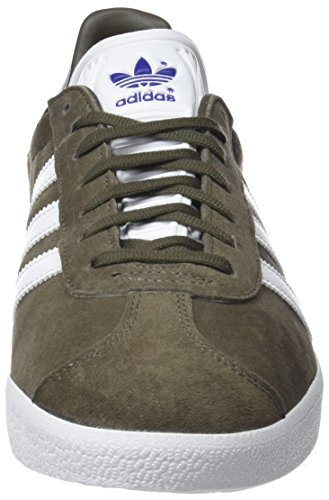 adidas Herren Gazelle Sneaker Braun (Branch/Footwear White/Real Purple)