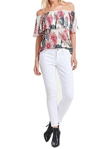 ONLY Damen Jeans-Hose Regular Ankle Skinny-Jeans Weiß