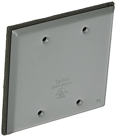Hubbell-Bell BC200S Weatherproof Metallic Device Cover, Blank, Two Gang, Gray by Hubbell Bell
