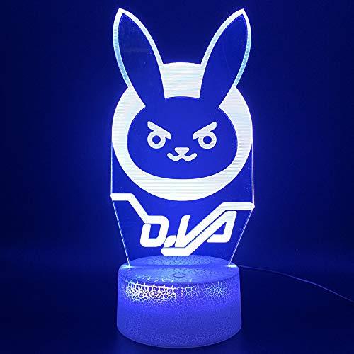 3D Optische Led Nachtlicht Lampe Spiel Song Büroraum Dekorative Lampe Geburtstagsgeschenk Für Kind Kind Nachtlicht ()