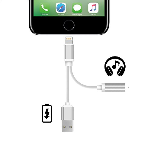 iPhone 7 Lightning Adattatore di auricolare e