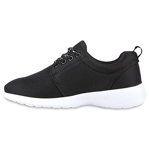 Modische Herren Sportschuhe | Freizeit Sneaker Snake | Laufschuhe Runners Trainers | Sneakers Schuhe Schwarz Agueda