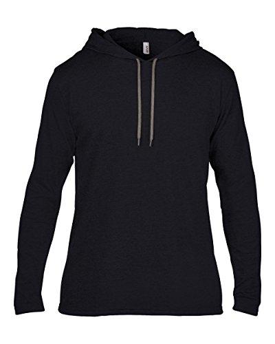 Anvil Herren T-Shirt Schwarz / Dunkelgrau