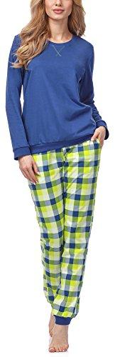 Cornette Damen Schlafanzug 634 2016 (Jeans (Meggie), XL)