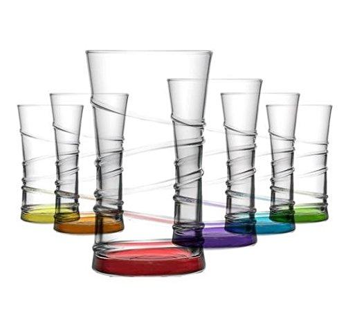 LAV - Coral Trinkgläser / farbige Wassergläser / 6-teiliges Gläser Set / 350 ml Farbige Gläser