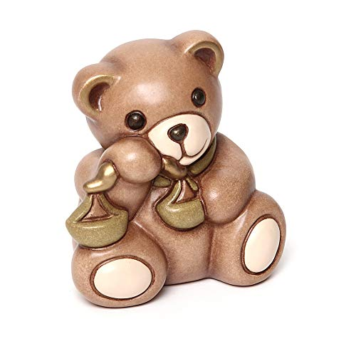 Thun® - teddy libra segni zodiacali - animali soprammobili da collezione - ceramica - i classici