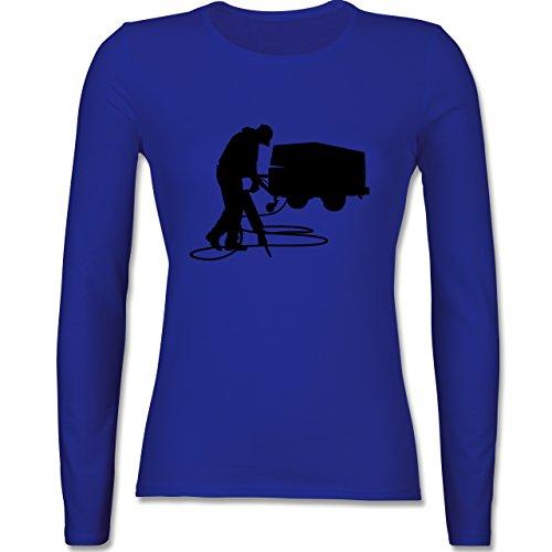 Handwerk - Bauarbeiter - tailliertes Longsleeve / langärmeliges T-Shirt für Damen Royalblau