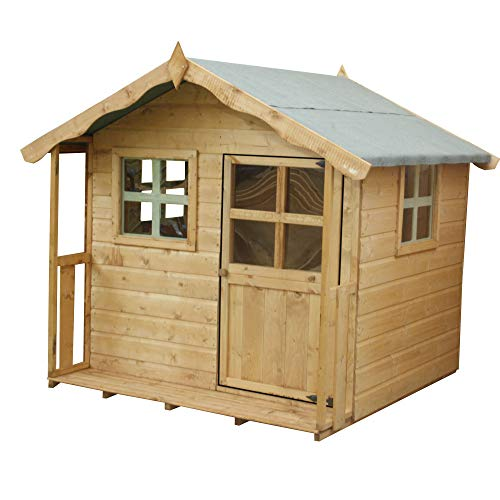 WALTONS EST. 1878 5x5 Wooden Garden Playhouse for kids. Shiplap Construction, dip treated with 10 Year Guarantee - Includes Apex Roof, Felt and Floor, Safety Styrene Windows (5 x 5 / 5Ft x 5Ft) 3-5 Day Delivery