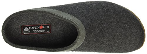 Haflinger - Torben, Pantofole A Casa, unisex Grigio (Grau (Anthrazit 04))