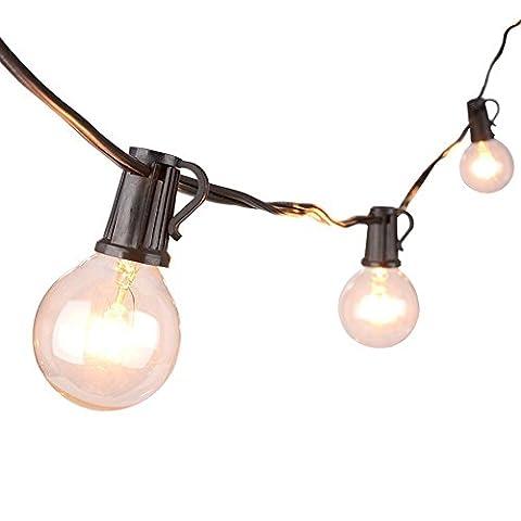 Give U Lichterketten, G40 im Freienschnur-Glühlampen Listed, Led StarryFairy Lichter für Indoor & Outdoor Dekor (EU-Stardard) - Outdoor Decor