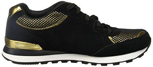 SKECHERS Schuhe 143 BLACK BKGD Golden-Schwarz