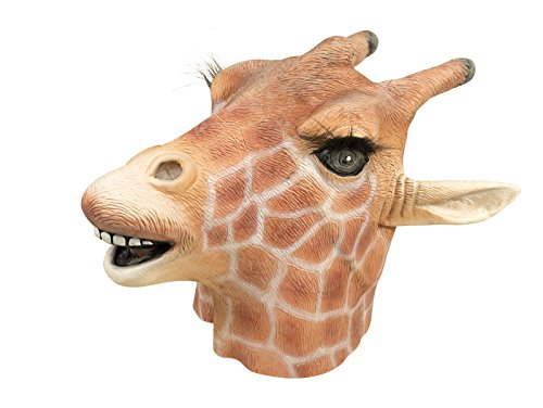 Maske Erwachsene Latex Integralhelm Giraffe, Einheitsgröße (Giraffe Latex Maske)