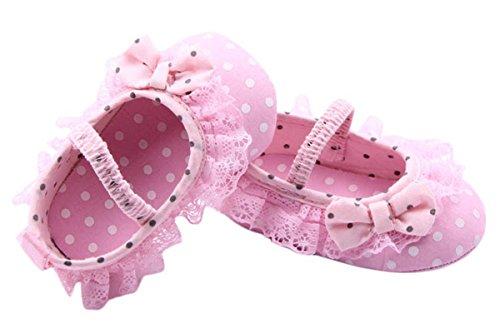 Happy Cherry Baby Mädchen Lauflernschuhe Kleinkind Bowknot Krabbelschuhe nette Babyschuhe weichen Sohlen Prinzessin Schuhe (13-18 Monate) - Rosa Rosa