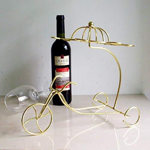 Weinregal aus Eisen, klein, modisch, kreatives Weinregal goldfarben