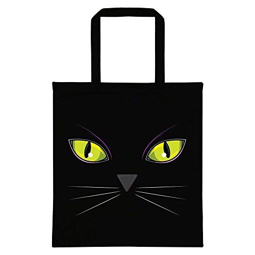 Real Slick Tees Tragetasche Cat's Eyes 38 x 42 cm Schwarz