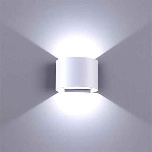 LED Wandleuchte Innen Außen Weiß mit Einstellbar Abstrahlwinkel 12W IP65 Up Down -