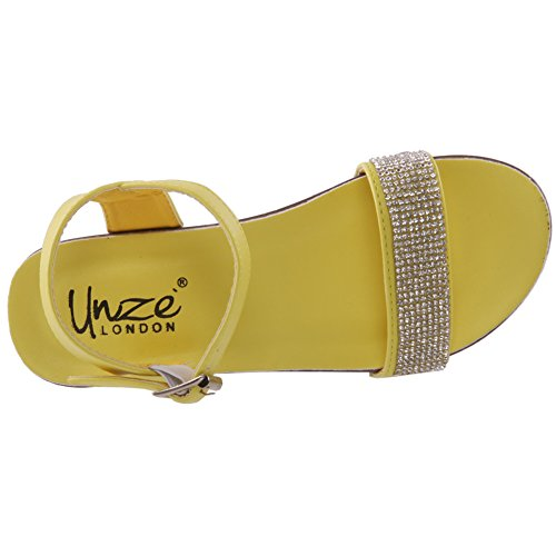 Unze Girls ' Laxi ' Wedge Sandalen Formal - 80779-2 Gelb
