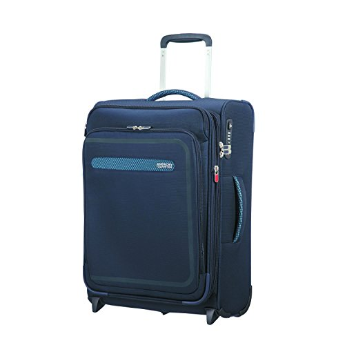 American Tourister Airbeat - Upright 55/20 Expandable Bagaglio a mano, 55 cm, 48 liters, Blu (True Navy)