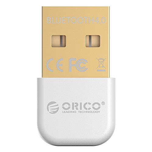 ORICO Bluetooth 4.0 USB Adapter,Highspeed,Plug & Play, Mini Nano Bluetooth Stick Empfänger Sender für Windows 8, 7, XP, 32 or 64 Bit,Weiß Bluetooth Cell Adapter